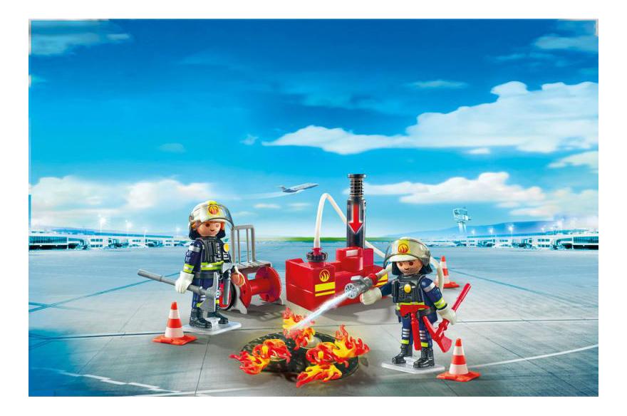 Игровой набор Playmobil PLAYMOBIL Операция по тушению пожара с водяным насосом фото