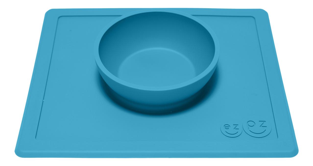 Тарелка детская Ezpz Happy bowl синяя