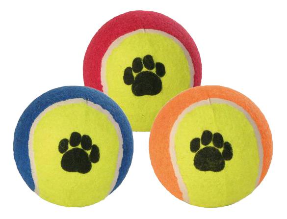 Апорт для собак TRIXIE Теннисный мяч, в ассортименте, 10 см фото