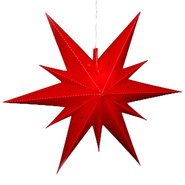 Светильник подвесной Звезда Вифлеемская 60 см красная, LED подсветка 83 3001
