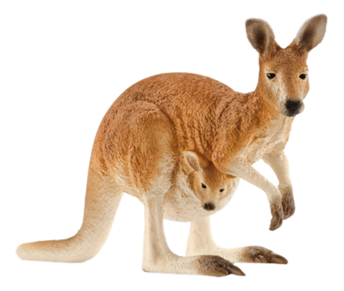 Фигурка животного Schleich Wild Life Кенгуру с детенышем фото