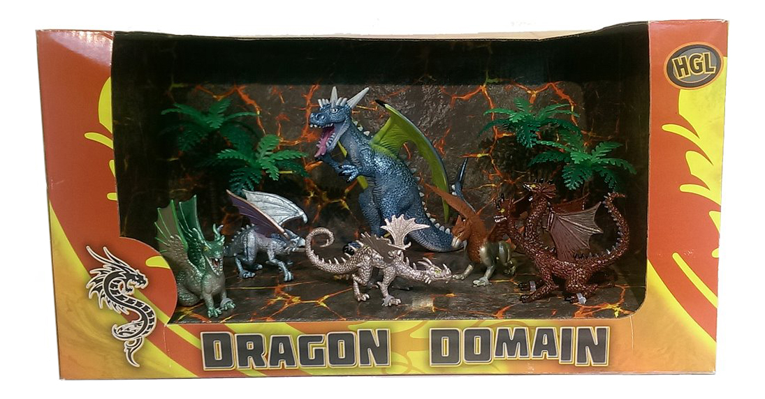 Фигурка динозавра HGL Драконы 6 шт
