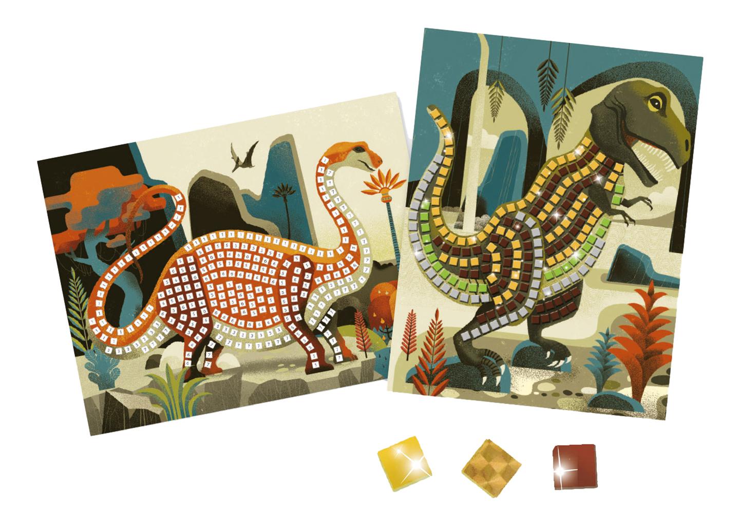 Мозаика из пайеток Динозаврики Djeco 8899 фото