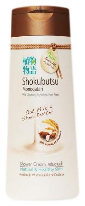 Купить Крем-гель для душа Shokubutsu Овсяное молочко и масло Ши 200 мл