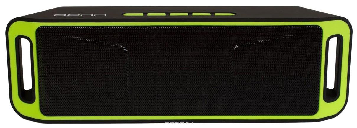 Беспроводная акустика DENN DBS211 Black/Green (DBS211)