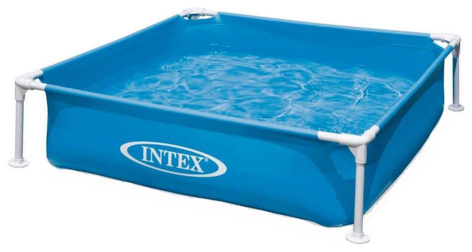 Купить Детский каркасный бассейн Intex Mini Frame Pool 57173 122х122х30см голубой, Детские бассейны