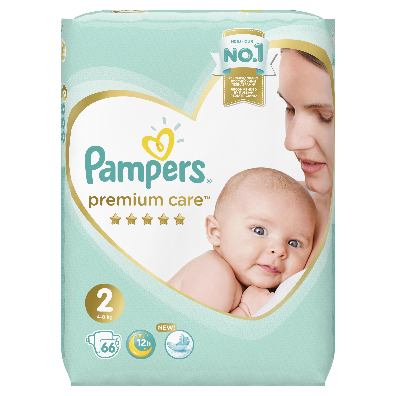 Подгузники Pampers Premium Care Mini (4-8 кг) 66 шт.