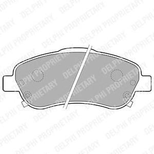 Тормозные колодки дисковые Delphi LP1786 фото