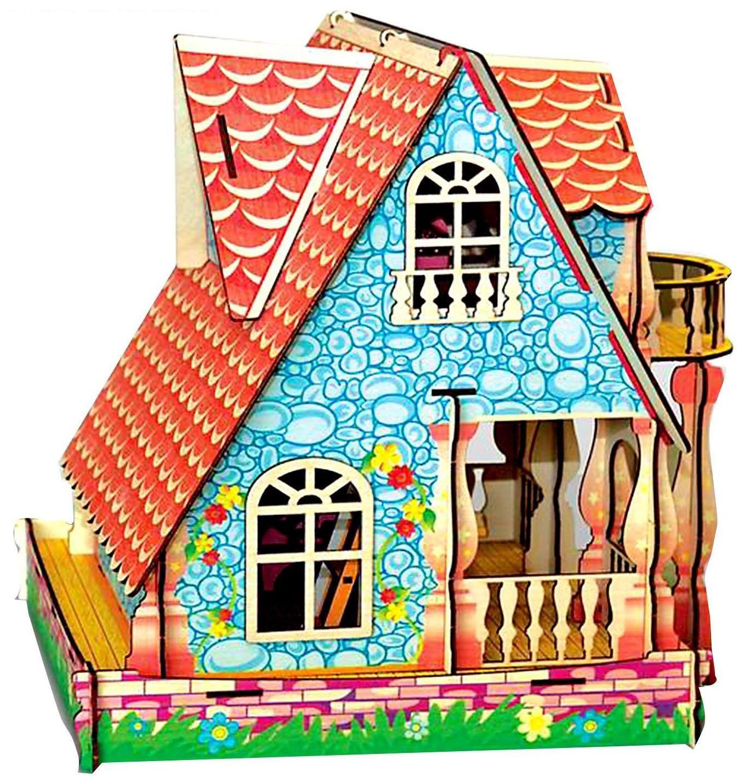 Купить Кукольный домик Усадьба, Кукольный домик Cartonhouse Усадьба с мебелью сборный цветной Полноцвет, Кукольные домики