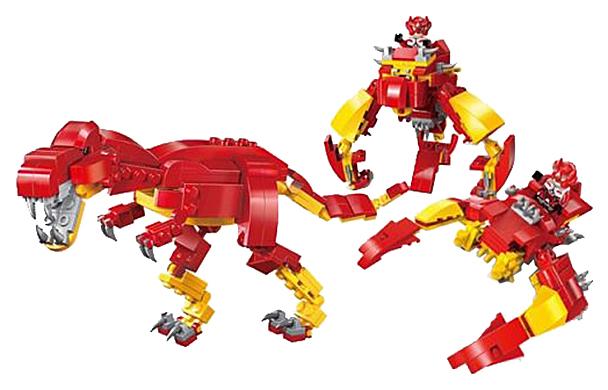 Купить Конструктор пластиковый Brick 3 в 1 космический динозавр 150 деталей 1403-4, Конструкторы пластмассовые