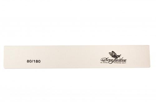Купить Пилка для искусственных ногтей Dona Jerdona 80/180 прямоугольная широкая белая