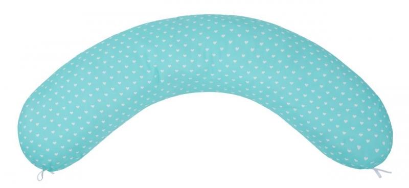 Подушка для беременных AmaroBaby 170х25 (Сердечки мята) по цене 1 408