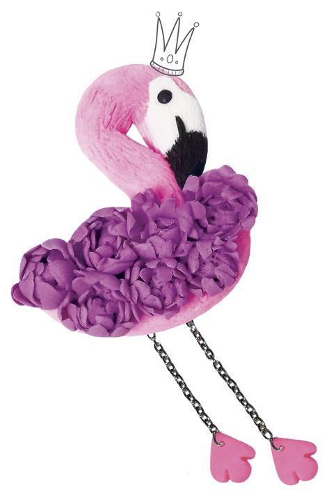 Набор для лепки из глины Школа талантов Брошь Фламинго