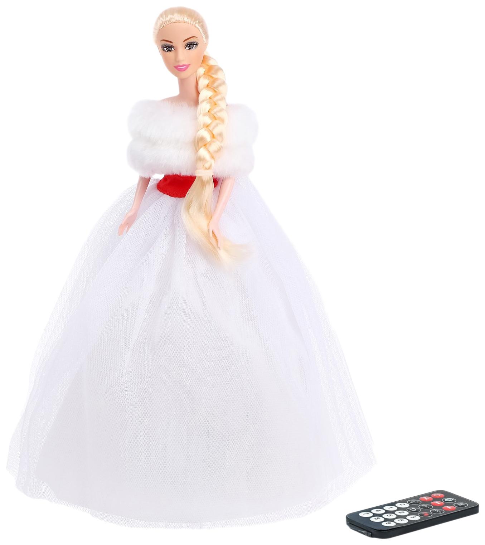 Купить Музыкальная кукла Анна Снегурочка, танцует, рассказывает стихи и сказки Happy Valley, Интерактивные куклы