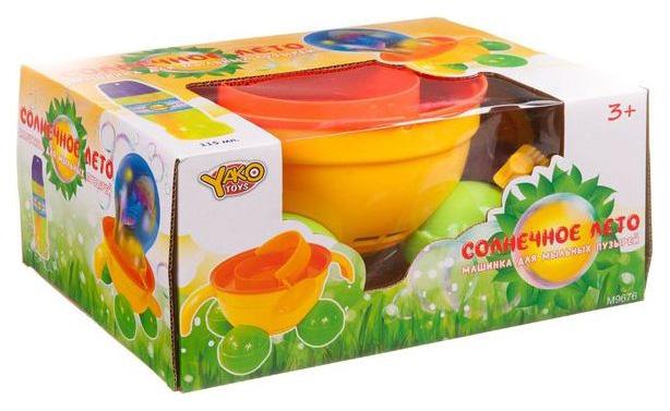 Купить Машина для мыльных пузырей Yako Toys Солнечное лето Каталка, 115 мл, Мыльные пузыри