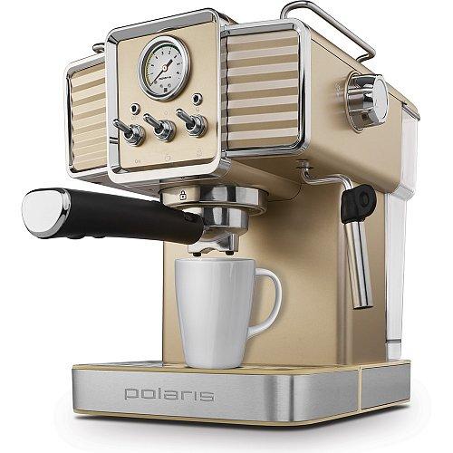 Кофеварка рожкового типа Polaris PCM 1538E Adore Crema Shampagne фото