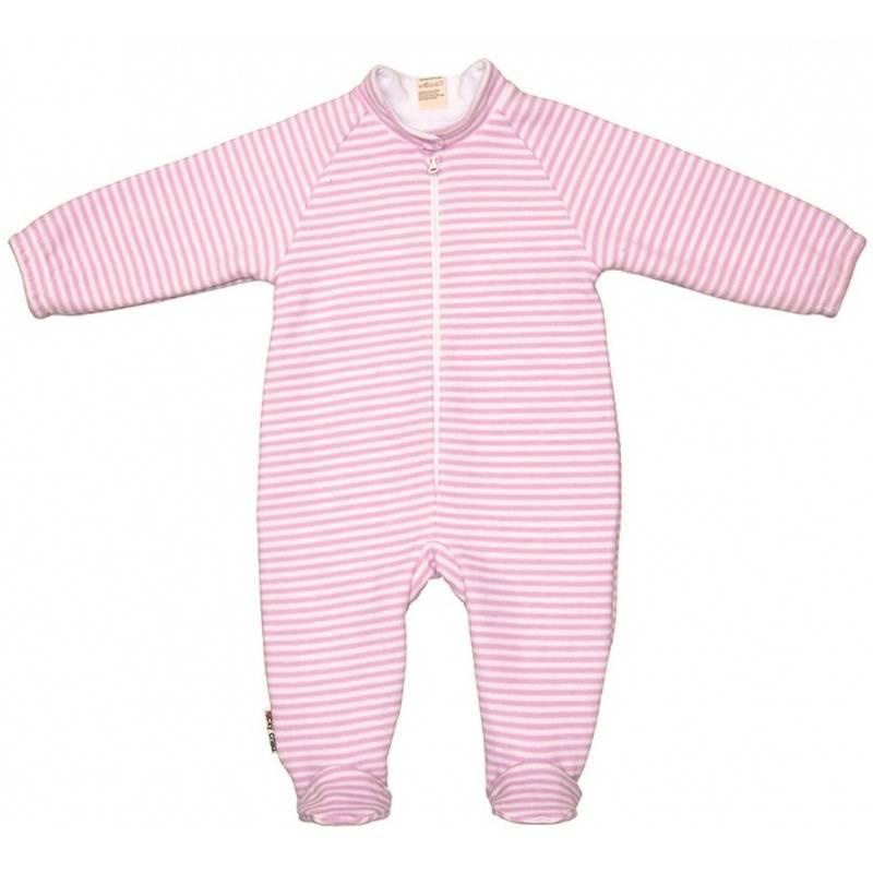 Купить 4-14.1/БЕЛО-РОЗОВЫЙ, Комбинезон Lucky Child, цв. розовый, 74 р-р, Трикотажные комбинезоны для новорожденных