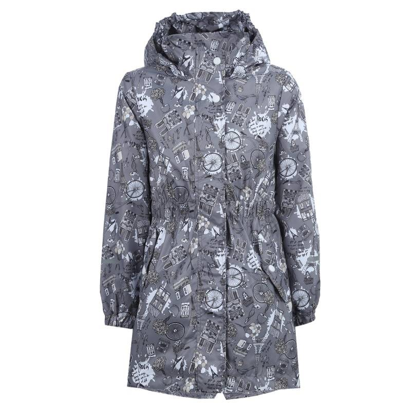 Купить 619, Плащ Эльза Emson, цв. темно-серый, 134 р-р, Дождевики и плащи для девочек