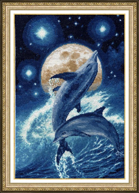 Набор для вышивания Золотое Руно Ф-031 Дельфины