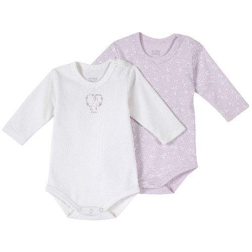 Купить 09011398, Комплект боди 2 шт. Chicco длинный рукав для девочек р.80 цв.розовый, Боди для новорожденных
