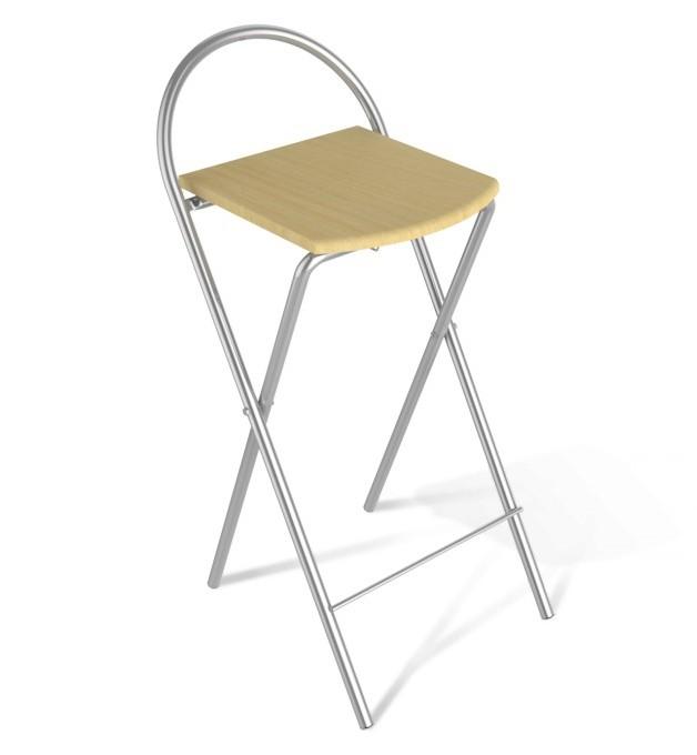 Барный стул Sheffilton SHT-S61 Бук / Ал. металлик