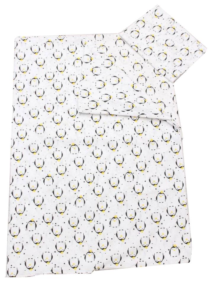 Комплект детского постельного белья AmaroBaby TIME TO SLEEP Пингвины Белый