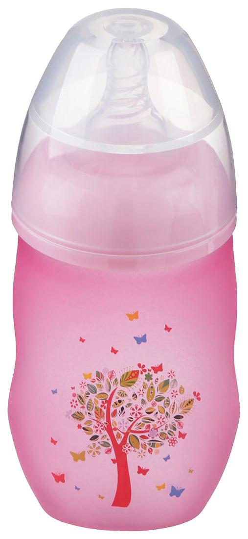 Бутылочка для кормления Крошка Я  240 мл широкое горло цвет розовый