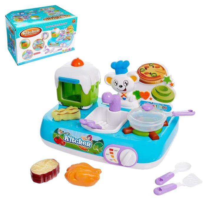 Купить Игровой модуль Sima-land раковина, с аксессуарами, со световыми и звуковыми эффектами, Детская кухня