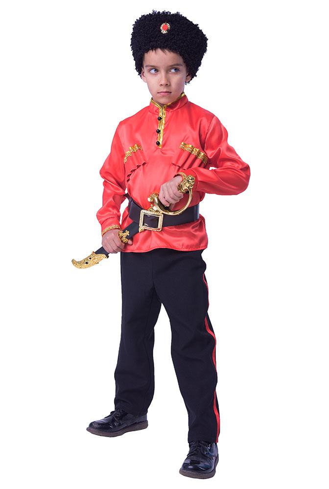 Карнавальный костюм Батик Казак, цв. красный; черный