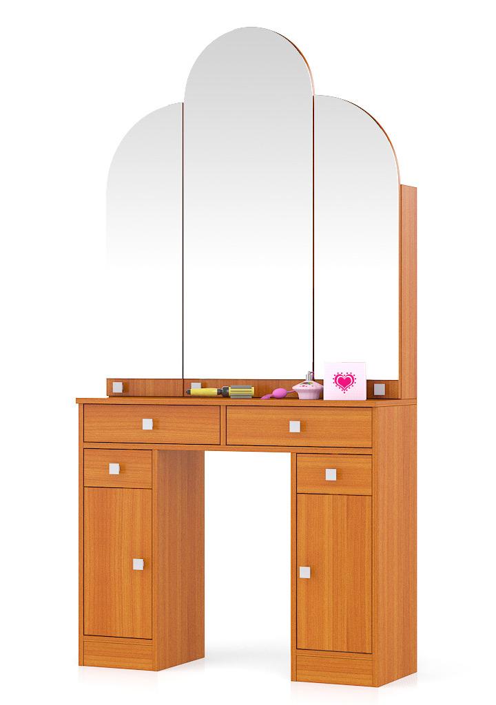 Туалетный столик Мебельный Двор №2 Трельяж вишня