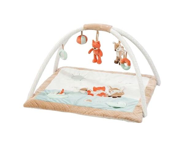 Купить Коврик игровой Nattou (Наттоу) Fanny & Oscar Оленёнок и Лисёнок 296243, Развивающие коврики для детей