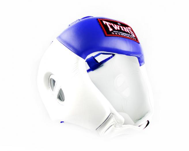 Боксерский шлем Twins HGL8 2T бело синий
