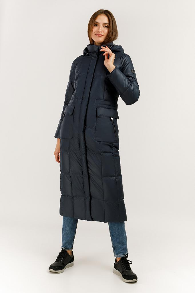 Пальто женское Finn Flare A19-11015F синее L фото