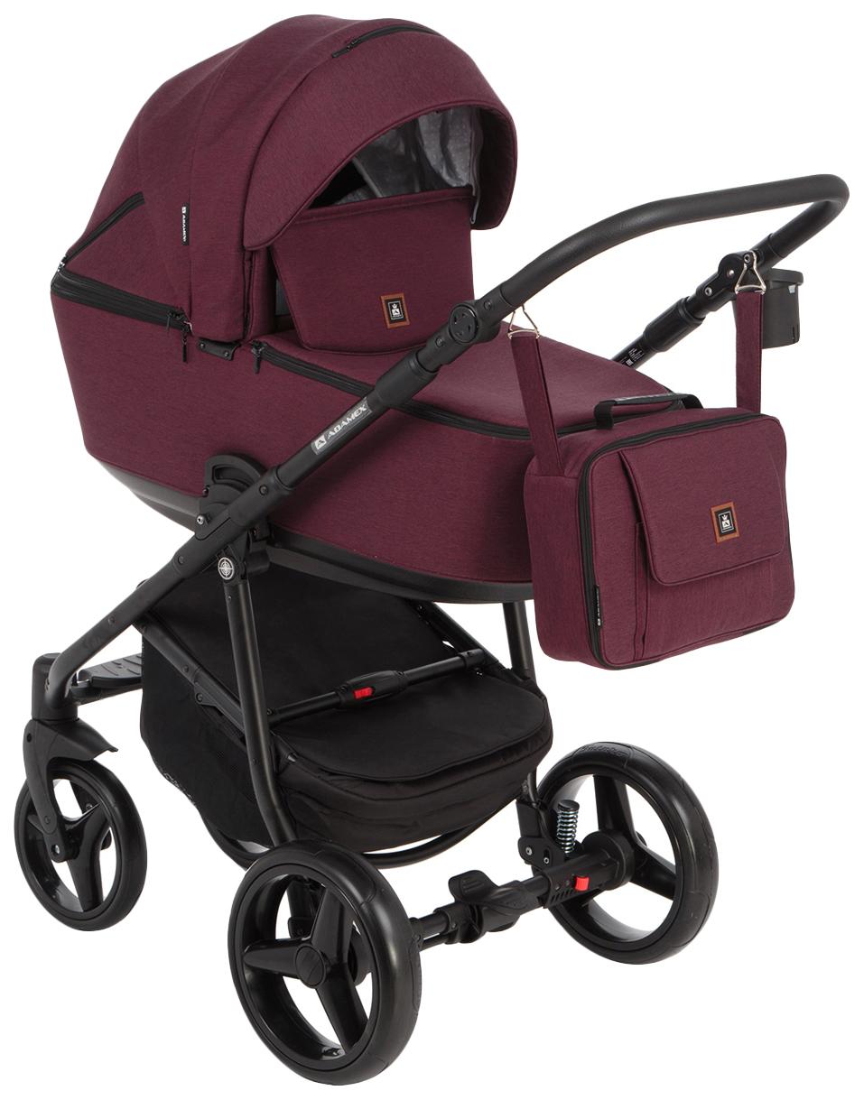 Купить Коляска 2 в 1 Adamex Barcelona BR-44 цвет красный, Детские коляски 2 в 1