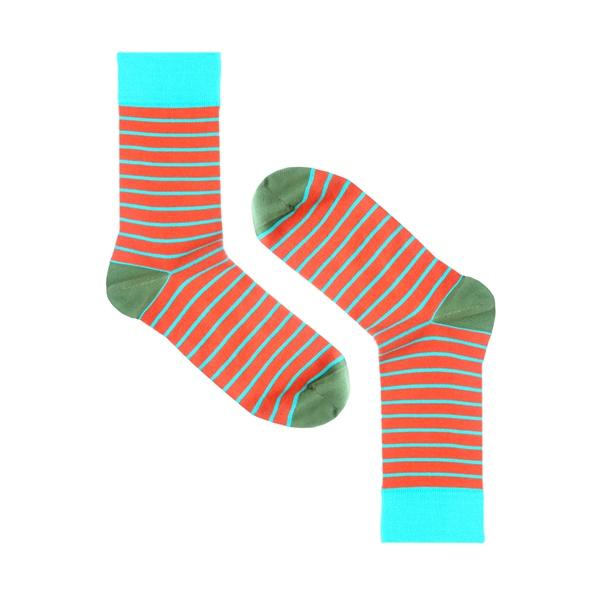 Носки унисекс Burning heels Тонкая полоса оранжевые 36-38