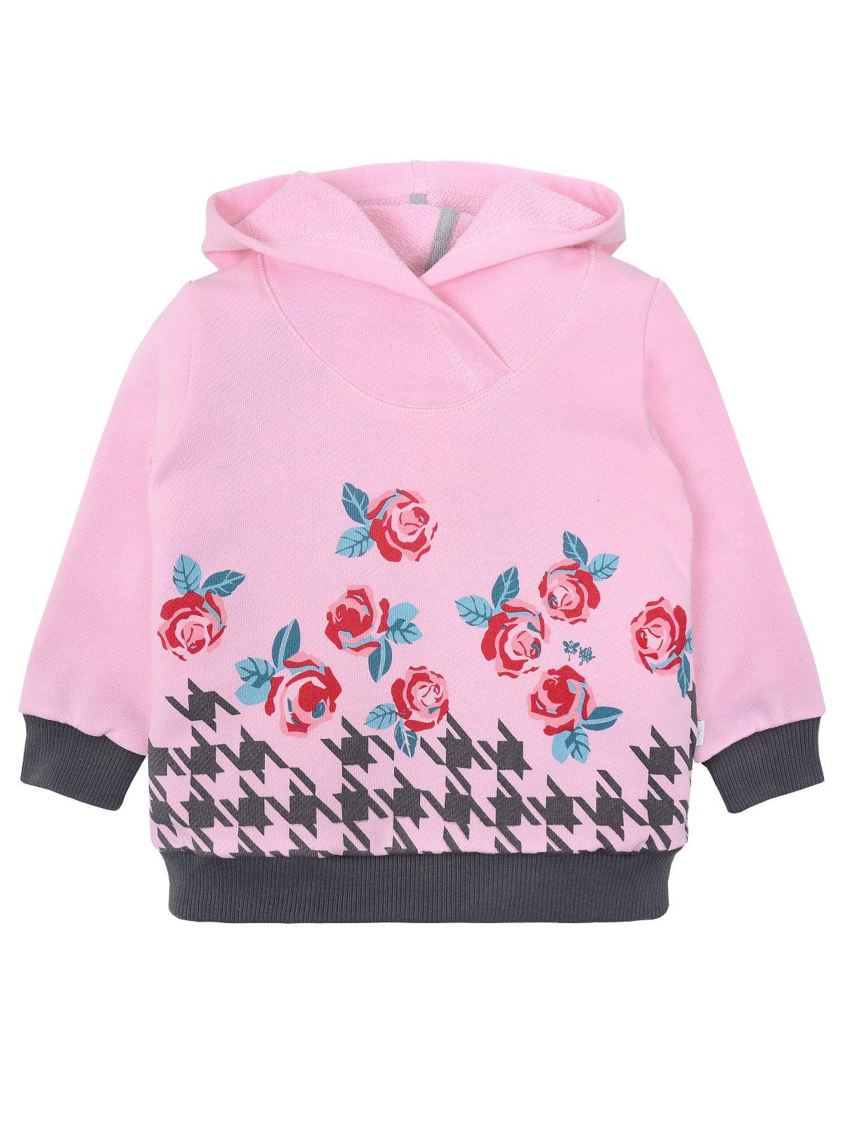 Джемпер для девочки Мамуляндия 19-826 Футер, Розовый р.122
