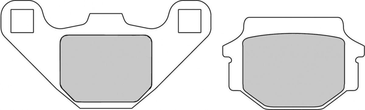 Тормозные колодки передние/задние Ferodo FDB314P для мотоциклов