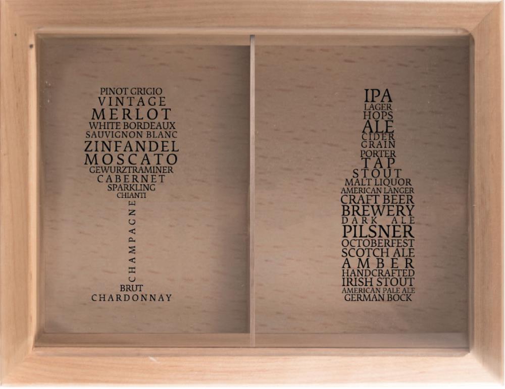 Копилка для пробок двойная Сорта Вин/Пива 29x45