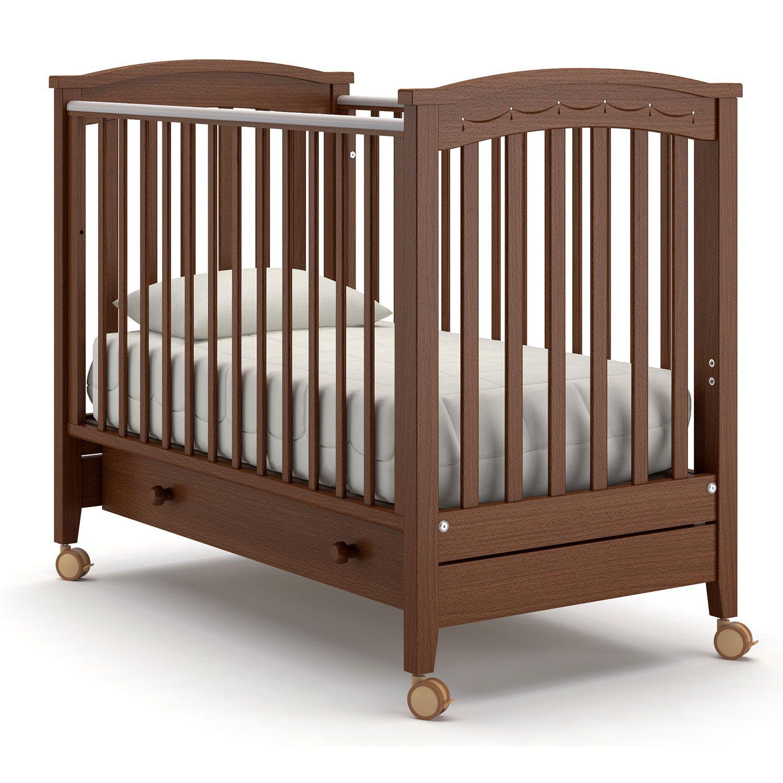 Купить Perla solo, Детская кровать Nuovita Perla solo, темный орех, Классические кроватки