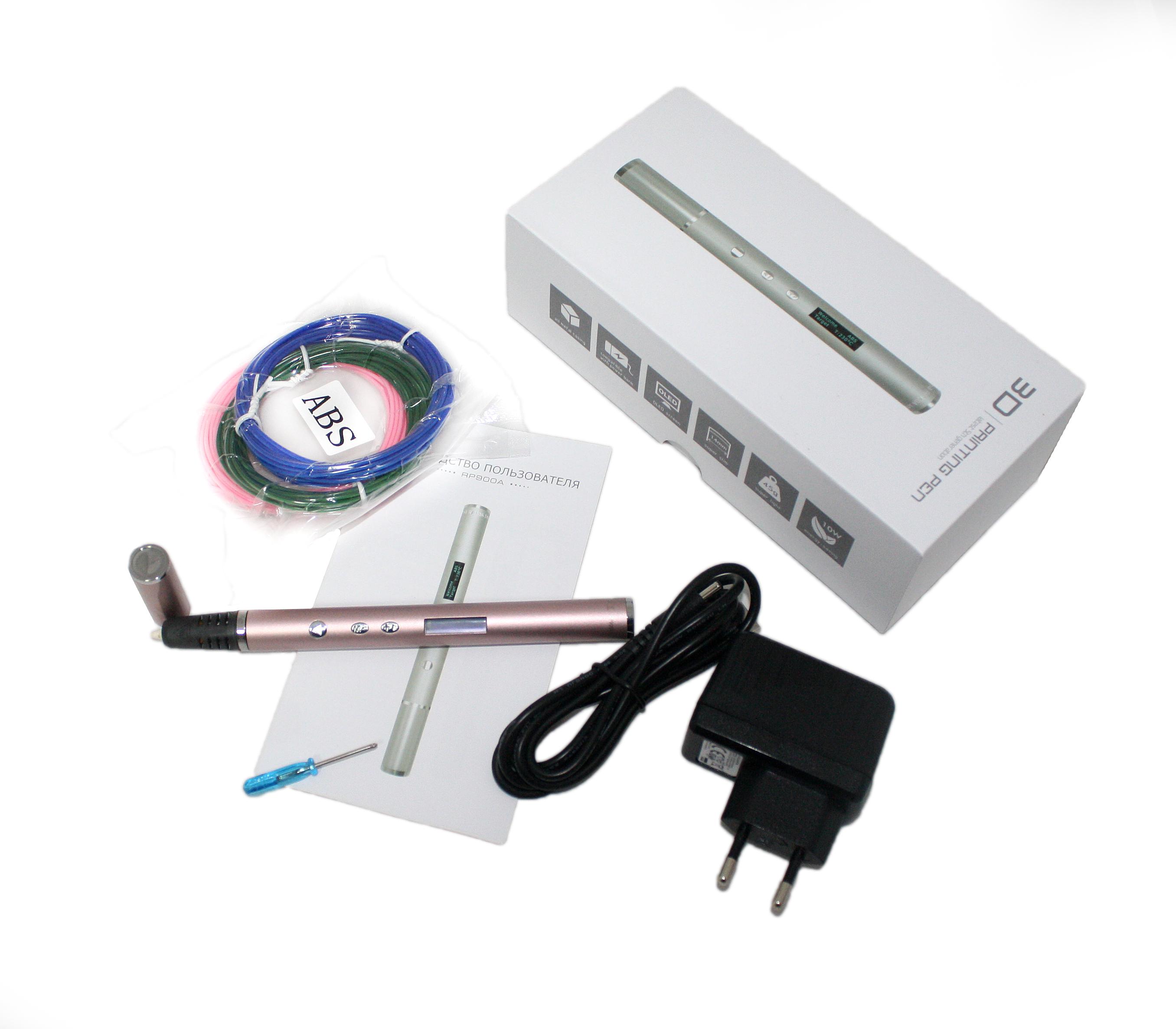 Купить 3D ручка RP900A, розовая, Jer Technology, 3D ручки