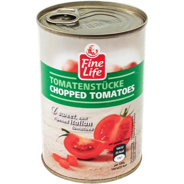 Томаты Fine Life рубленные в томатном соке 400 г
