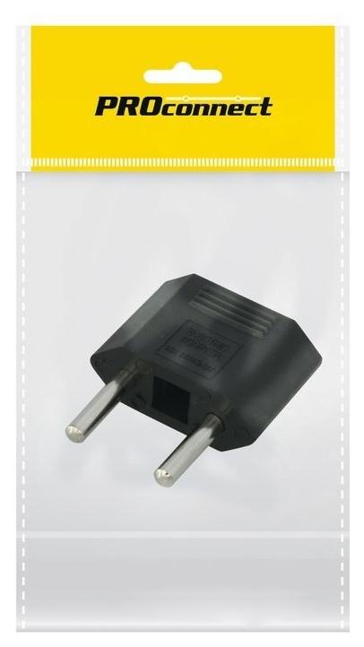 Сетевой переходник плоский, Тефаль Proconnect, чёрный, в упаковке