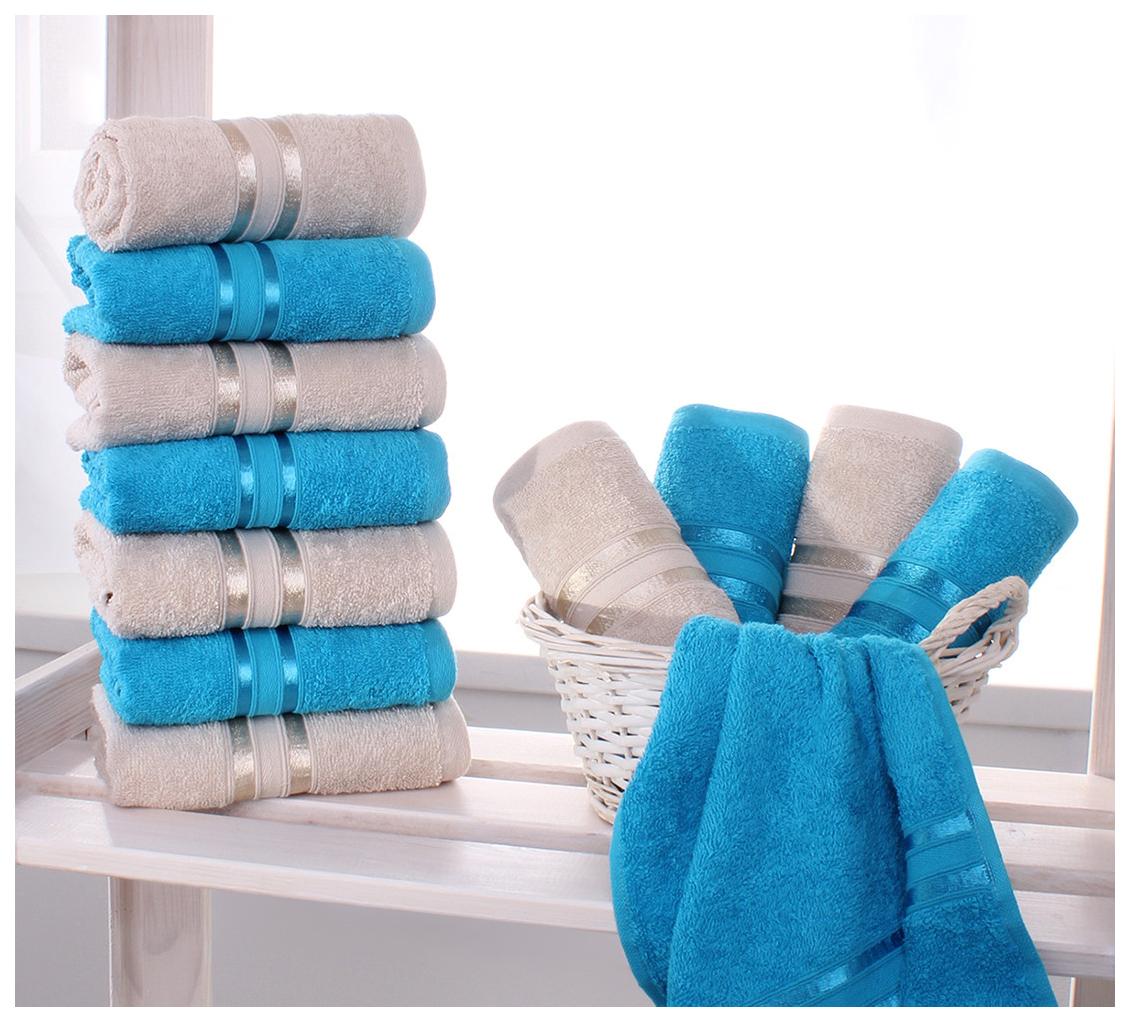 Набор полотенец Dome белый, голубой dme350754 по цене 1 590