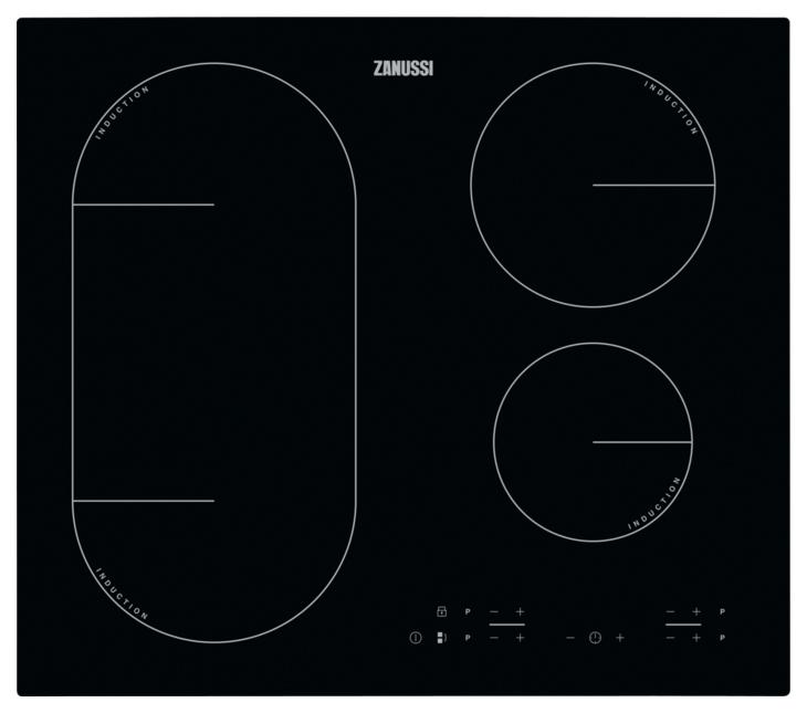 Встраиваемая варочная панель индукционная Zanussi IPZ6443KC Black