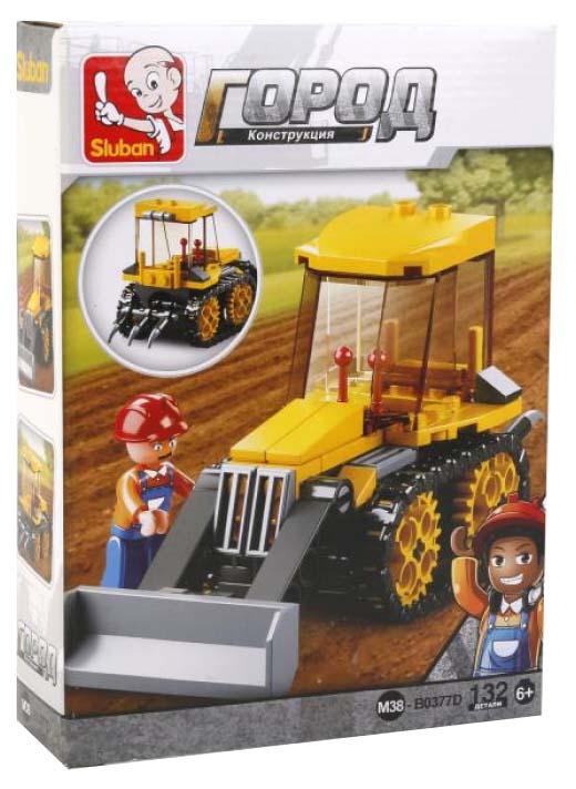 Купить Конструктор пластиковый Sluban Трактор M38-B0377D Town 132 Детали, Конструкторы пластмассовые