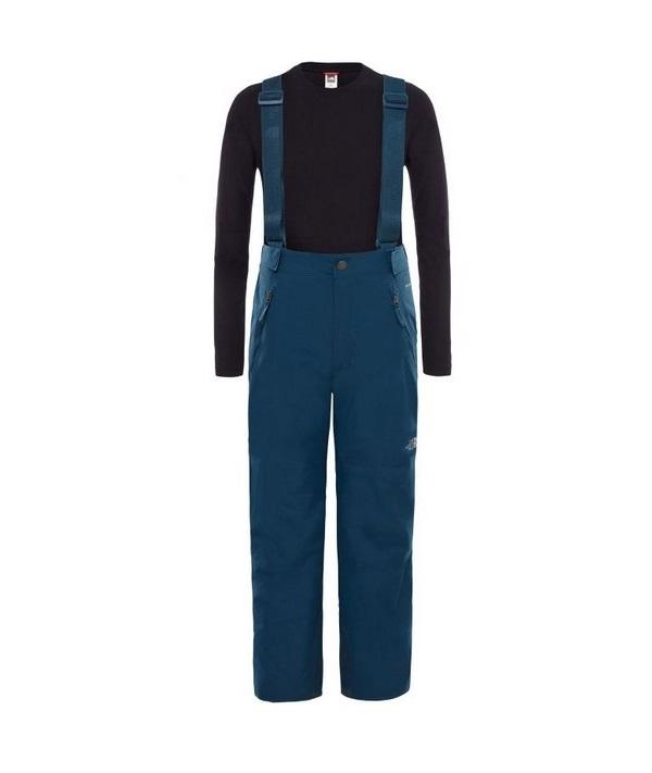 Купить Брюки The North Face Youth Snowquest Suspender Plus детские синие S, Детские брюки и шорты