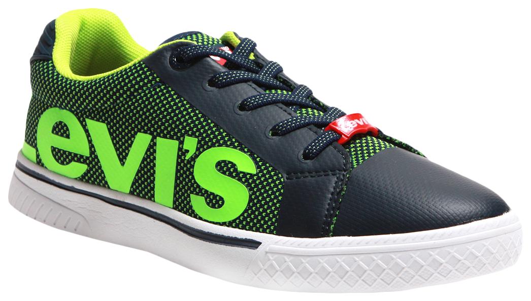Купить 56204, Кеды Levi's Kids navy f green 37 размер, Детские кеды
