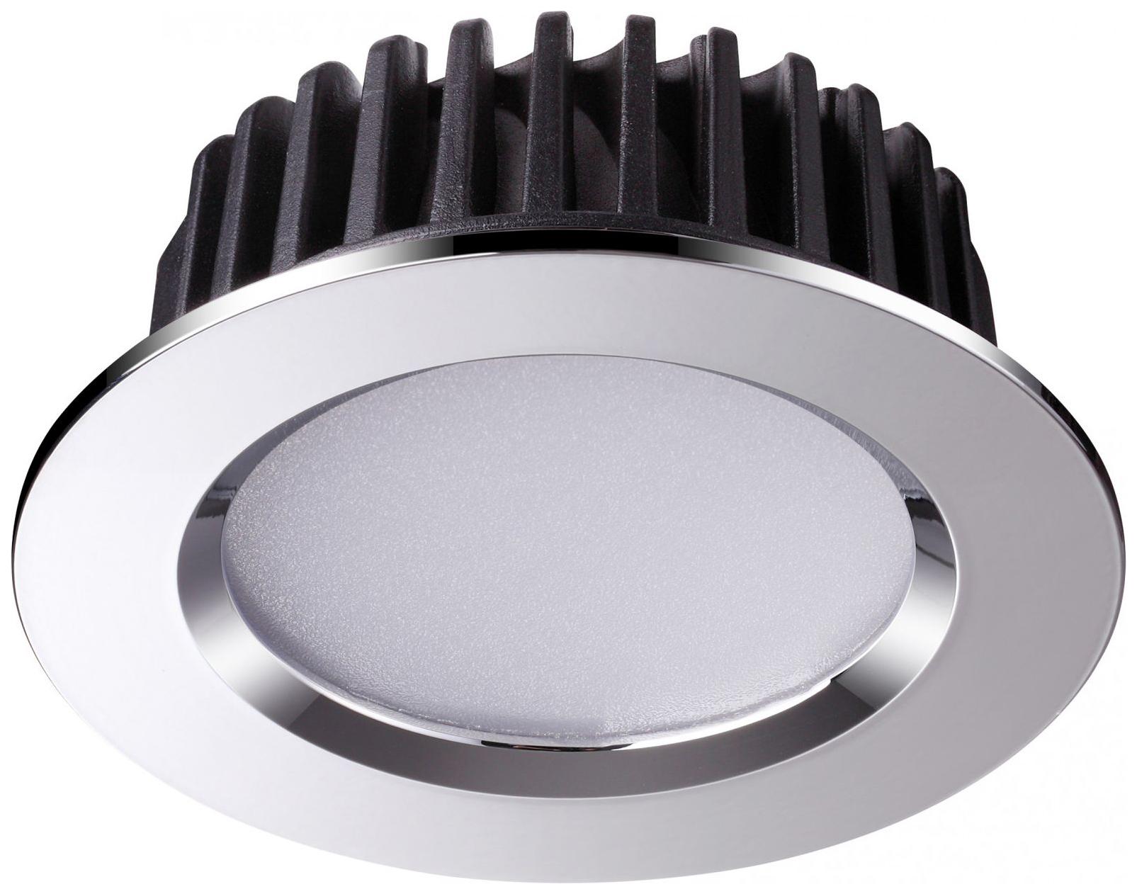 Встраиваемый светодиодный светильник Novotech Drum NT18 000 357601 Хром