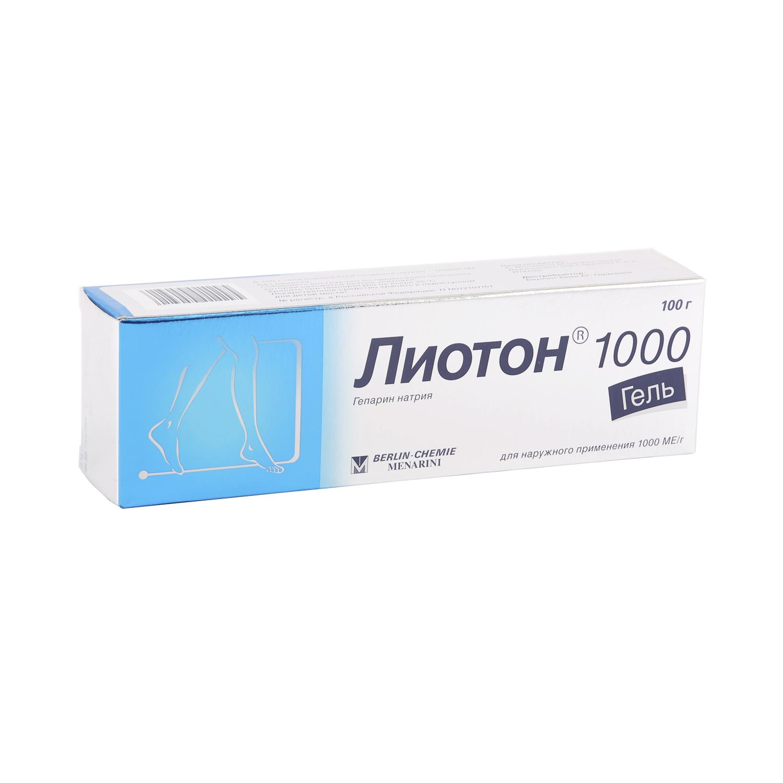 Лиотон 1000 гель 1000 ЕД/г 100 г