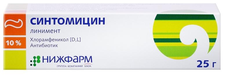 Синтомицин линимент 10% 25 г Нижфарм фото